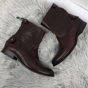 Frye melissa short boots zipper button 9.5